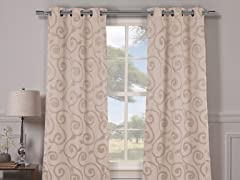 Lewis Blackout Grommet Panels-S/2