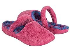 Flower Fairisle Ballet Slipper, Pink