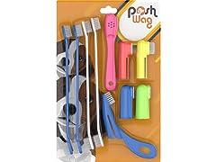 PoshWag Dog Tooth Brush 10-Piece Kit