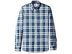 White Yellow Plaid, X-Small Men's Shirt