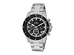 Invicta Men's Chronograph, Black/Silver