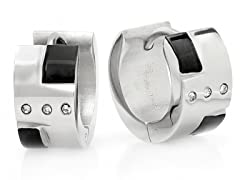 Stainless Steel 10mm Huggie Earrings