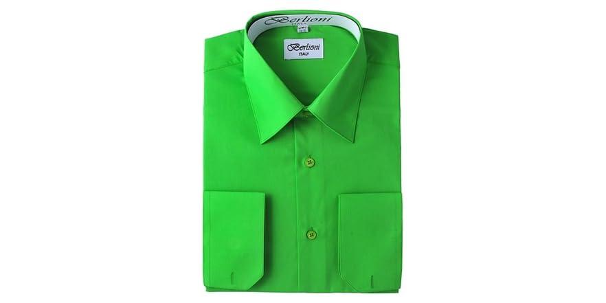 Classic fit dress shirts apple green for Apple green dress shirt