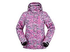 ANDORRA Ski Jacket Pink Starburst