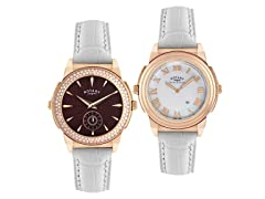 Rotary Women's Evolution TZ2 Reversible  Leather Watch
