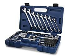 "68 PC 1/4"" & 1/2"" Socket/Wrench w/ Case"