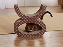 Cat's Eye Cardboard Cat Scratcher