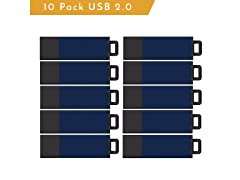 10-Pack of USB 2.0 Datasticks - 32GB Capacity