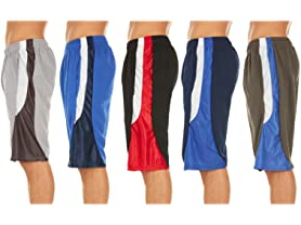Men's Mesh Performance Shorts 5-Pack