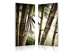 Bamboo Stalks Diptych