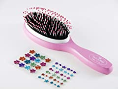 Pink Brush w/Rainbow Flowers Stickers