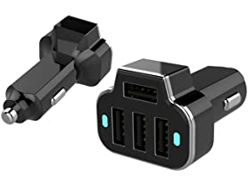 Aduro PowerStation 4-Port USB Car Charger - 2 Pack
