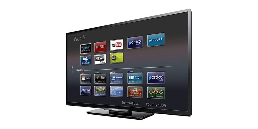 philips 40 1080p led hdtv with net tv. Black Bedroom Furniture Sets. Home Design Ideas