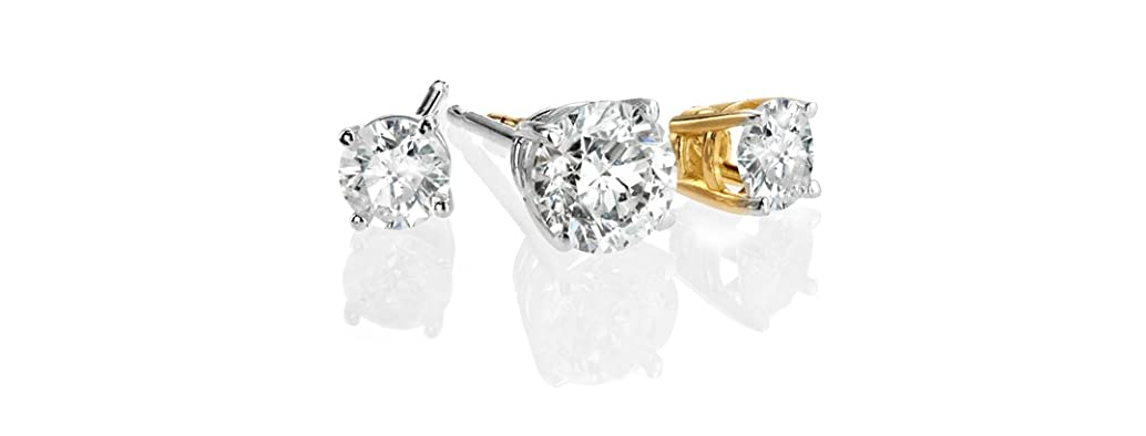 14K Gold Diamond Stud Earrings- Pick Size, Pick Style