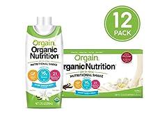 Orgain Organic Nutritional Shake, 12pk