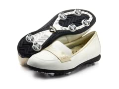Women's Moccasin Golf Shoes, White