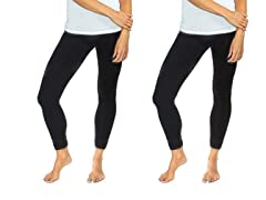 Maze Collections 2-Pack of Women's Basic Fleece-Lined Leggings