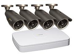 8CH 2CIF DVR Sys w/ 4 Weatherproof Cams & 1TB HD