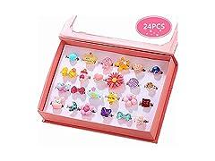 PinkSheep Little Girl Jewel Rings in Box