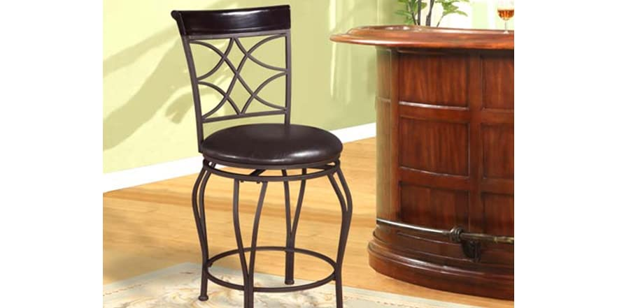 Linon Curves Back 24 Quot Counter Stool