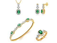 Diamond & Emerald Set