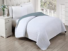 Mirai 3 Pc Reversible Coverlet Set