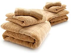 HomeSource Microcotton Towel Set - Maize