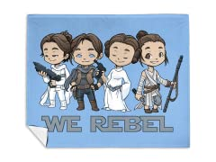 """Rebellious Ladies"" Mink Fleece Blanket"