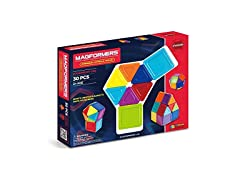 Magformers Rainbow Opaque Set, 30 Pieces