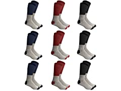 Mens INSULATED THERMAL COTTON CREW SOCKs