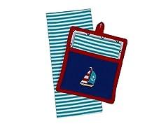 Sail Away Potholder Gift Set