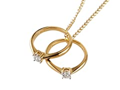 Edgewater Double Diamond Ring Charm Pendant