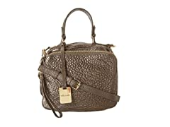 KC Square Biz Leather Satchel Bag, Pewter
