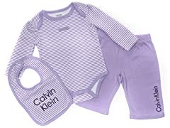 Calvin Klein 3pc Infant Sets - (0-3M)