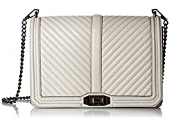 Rebecca Minkoff Chevron Quilted Jumbo Love Crossbody