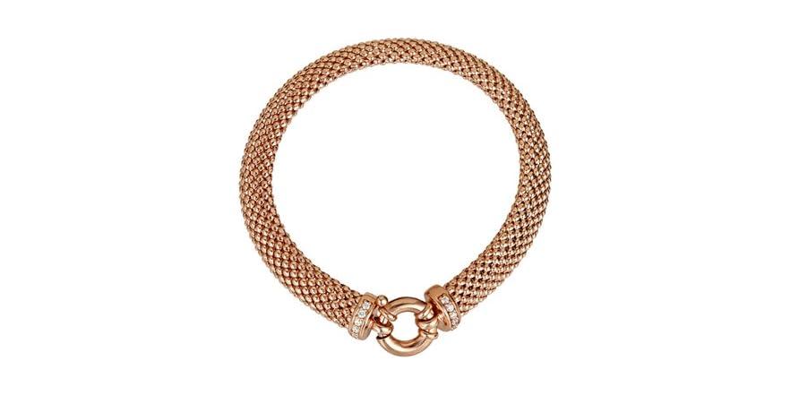 8mm popcorn bracelet with spring lock fashion for Italian kitchen silver spring