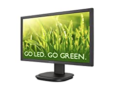 "22"" 1080p Ergonomic LED Monitor with DisplayPort"