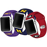 NCAA/NFL/NHL Team Silicone Apple Watch Bands (various)