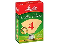 Melitta Number 4 Coffee Filters, 100ct