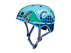 Micro Blue Scootersauras Child's Helmet