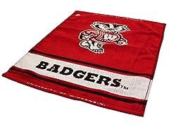 Wisconsin Woven Golf Towel