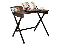 Desk with Back Shelf - Espresso