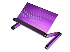 Adj Laptop Desk/Portable Bed Tray - Purple
