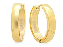 18 kt Gold Plated 16mm Huggie