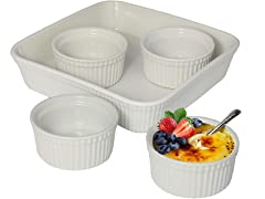 LE REGALO 5 Piece Dessert Set, White