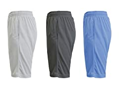 Mens Moisture-Wicking Mesh Shorts 3PK