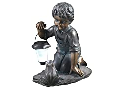 Boy with Solar Light and Frog
