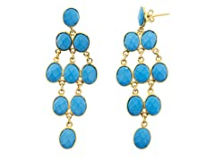 18k Plated Chalcedony Earrings
