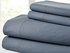 Vintage Washed 100-Percent Cotton 4-Piece Sheet Set