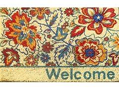 Floral Welcome Weather-Resistant Doormat